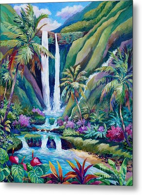 Paradise Falls  Back To Nature Metal Print by John Clark