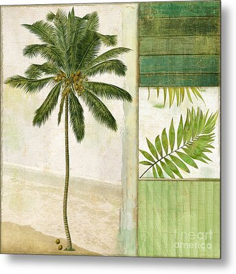 Paradise II Palm Tree Metal Print by Mindy Sommers