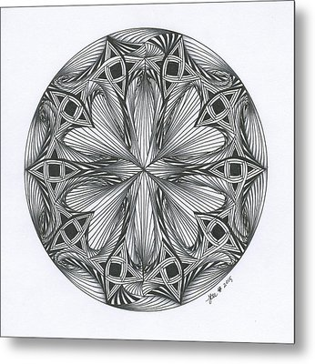 Paradoxical Zendala Metal Print