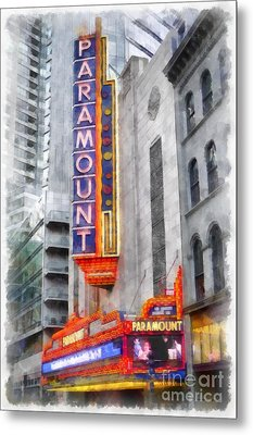 Paramount Theater Boston Ma Metal Print