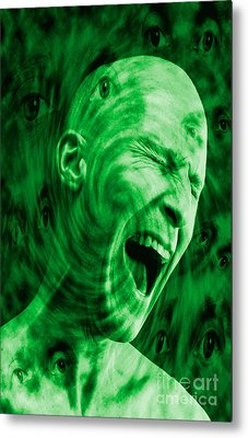 Paranoid Personality Disorder Metal Print by George Mattei