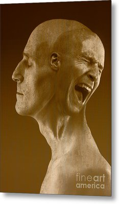 Paranoid Schizophrenia Metal Print by George Mattei