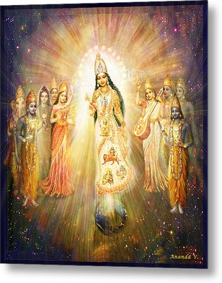 Parashakti Devi - The Great Goddess In Space Metal Print