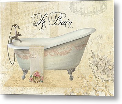 Parchment Paris - Le Bain Vintage Bathroom Metal Print