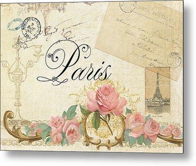 Parchment Paris - Timeless Romance Metal Print by Audrey Jeanne Roberts