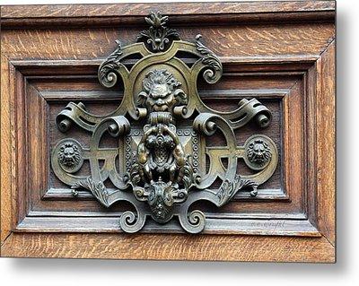 Paris - 19th Century Brass Door Knocker Metal Print by Yvonne Wright