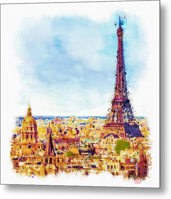 Paris Aerial View Metal Print by Marian Voicu