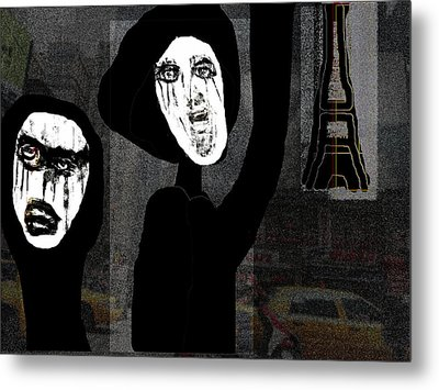 Paris After Dark Metal Print