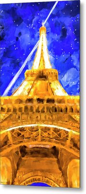 Metal Print featuring the mixed media Paris Ascending by Mark Tisdale