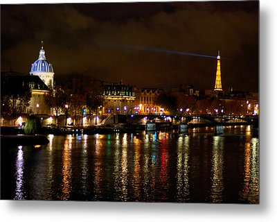 Metal Print featuring the photograph Paris At Night by Steven Richman