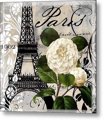 Paris Blanc I Metal Print by Mindy Sommers