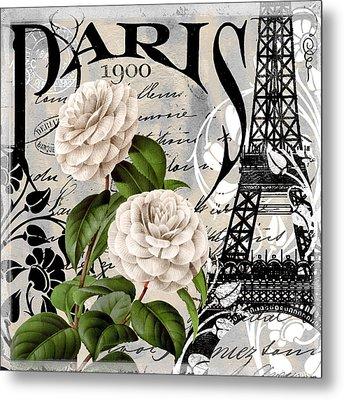 Paris Blanc II Metal Print by Mindy Sommers