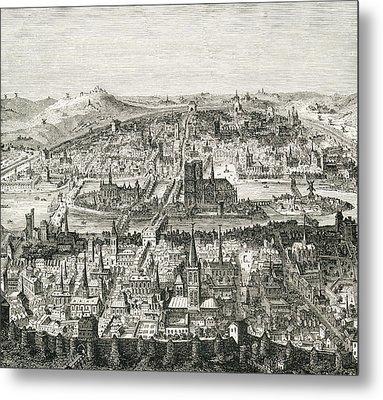 Paris Circa 1610. 19th Century Copy Of Metal Print