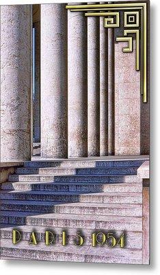 Paris Columns - Titled Metal Print