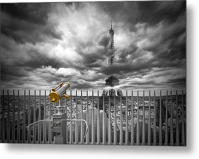 Paris Composing Metal Print by Melanie Viola