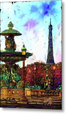 Paris Metal Print by DC Langer