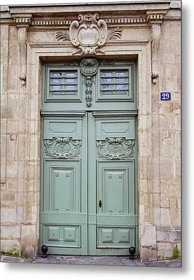Metal Print featuring the photograph Paris Doors No. 29 - Paris, France by Melanie Alexandra Price