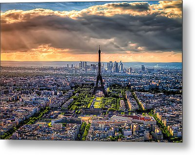 Paris From Above Metal Print by Tim Stanley