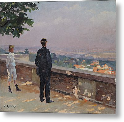 Paris From The Observatory At Meudon Metal Print by Jules Ernest Renoux