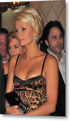 Paris Hilton  Metal Print by Michael Albright