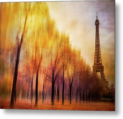 Paris In Autumn Metal Print by Marty Garland
