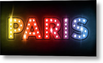 Paris In Lights Metal Print by Michael Tompsett