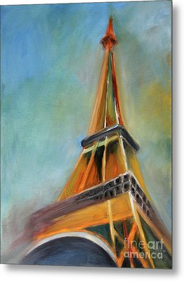 Paris Metal Print by Jutta Maria Pusl
