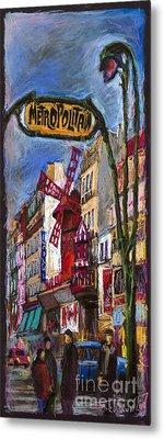 Paris Mulen Rouge Metal Print by Yuriy  Shevchuk