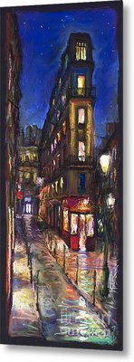 Paris Old Street Metal Print by Yuriy  Shevchuk