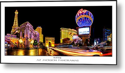 Paris On The Strip Poster Print Metal Print