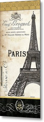 Paris, Ooh La La 1 Metal Print by Debbie DeWitt