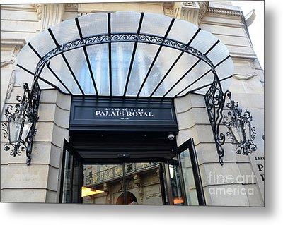 Paris Palais Royal Hotel Door - Paris Art Nouveau Hotel Palais Royal Entrance Architecture Metal Print