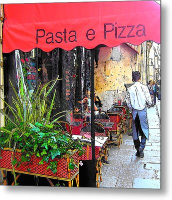 Paris Pasta And Pizza Shop Metal Print