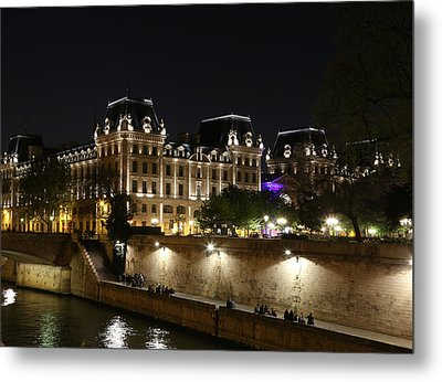 Metal Print featuring the photograph Paris Police Headquarters by Andrew Fare