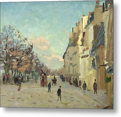 Paris Quai De Bercy Snow Effect Metal Print