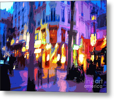 Paris Quartier Latin 02 Metal Print by Yuriy  Shevchuk