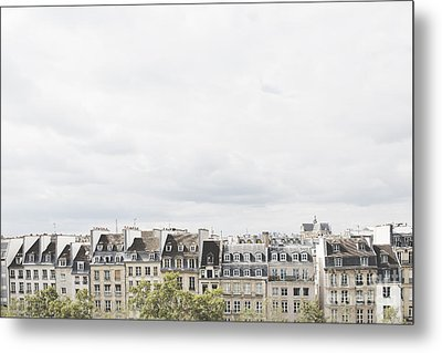 Paris Rooftops View From Centre Pompidou Metal Print by Ivy Ho