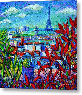 Paris Rooftops - View From Printemps Terrace   Metal Print by Mona Edulesco