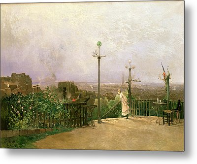 Paris Seen From The Heights Of Montmartre Metal Print by Jean dAlheim