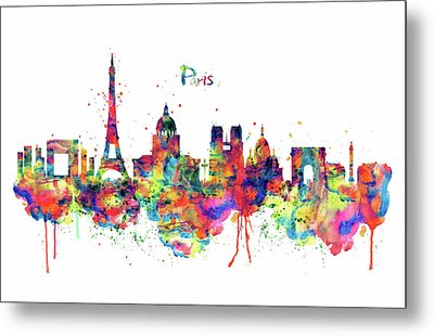 Paris Skyline 2 Metal Print by Marian Voicu