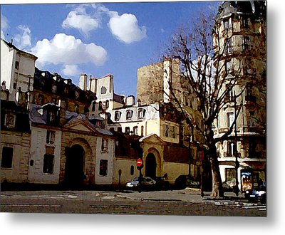 Metal Print featuring the digital art Paris Street Larry Darnell by Larry Darnell