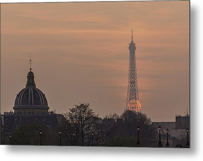 Paris Sunset II Metal Print