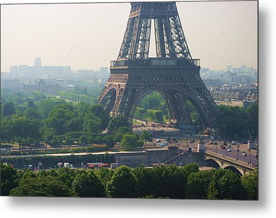 Paris Tour Eiffel 301 Pollution, Pollution Metal Print by Pascal POGGI