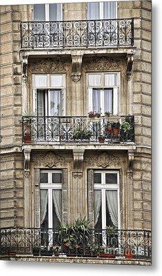Paris Windows Metal Print by Elena Elisseeva