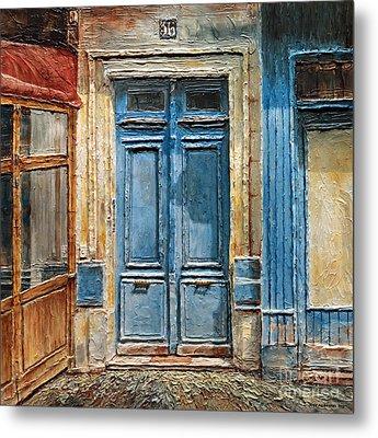 Parisian Door No.36 Metal Print by Joey Agbayani