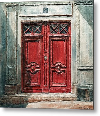 Parisian Door No.9 Metal Print by Joey Agbayani