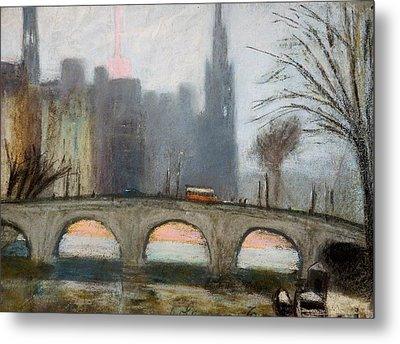 Metal Print featuring the painting Parisian Gray by Gary Coleman