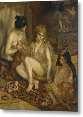 Parisiennes In Algerian Costume Or Harem Metal Print by Auguste Renoir