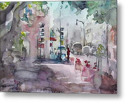 Park Avenue 2 Metal Print by Becky Kim
