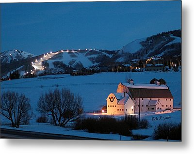 Park City Mcpolin Barn Metal Print by Vicki Gaebe